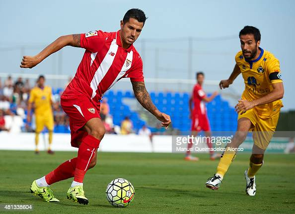 Vitolo of Sevilla in action during a Pre Season Friendly match between Sevilla and Alcorcon at Pinatar Arena Stadium on July 19 2015 in San Pedro de...