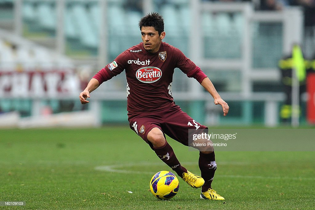 Vitor Barreto of Torino FC in action during the Serie A match between Torino FC and Atalanta BC at Stadio Olimpico di Torino on February 17, 2013 in Turin, Italy.