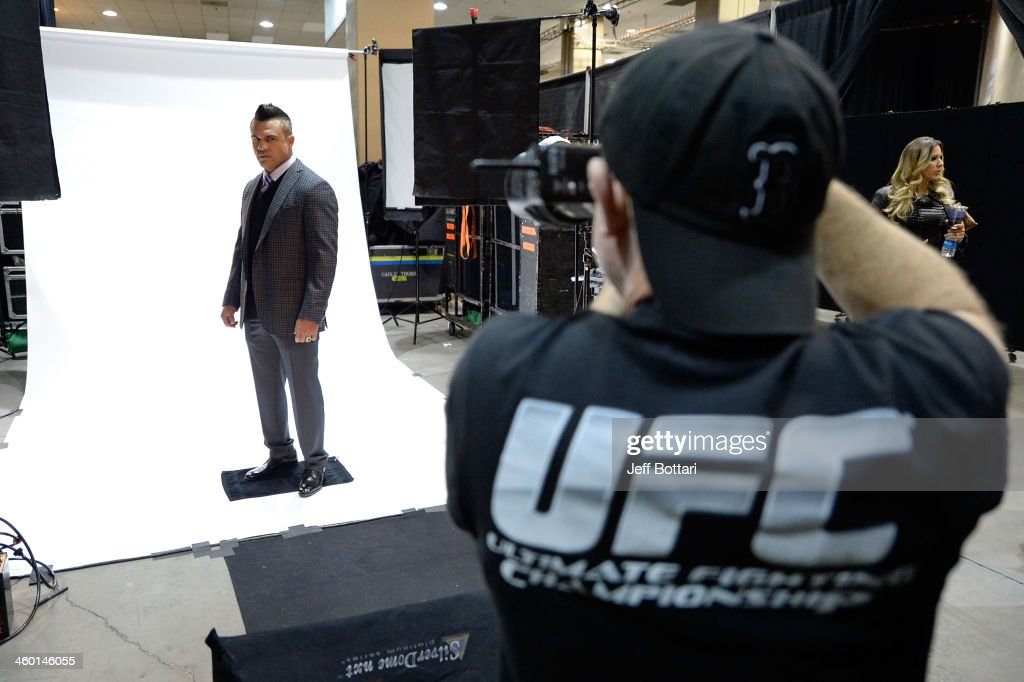 Vitor Belfort poses for a portrait backstage during the UFC 168 event at the MGM Grand Garden Arena on December 28, 2013 in Las Vegas, Nevada.