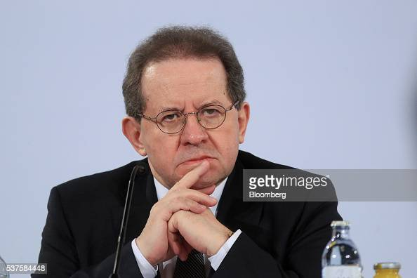 Vitor Constancio vice president of the European Central Bank pauses during a news conference to announce the bank's interest rate decision in Vienna...