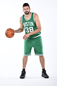 Vitor Faverani of the Boston Celtics poses for a portrait on September 29 2014 at the Boston Cetlics Training Center at Healthpoint in Waltham...