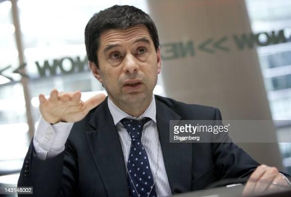 Vitor Gaspar Portugal's finance minister speaks during an interview in New York US on Thursday April 19 2012 Gaspar said yesterday international...
