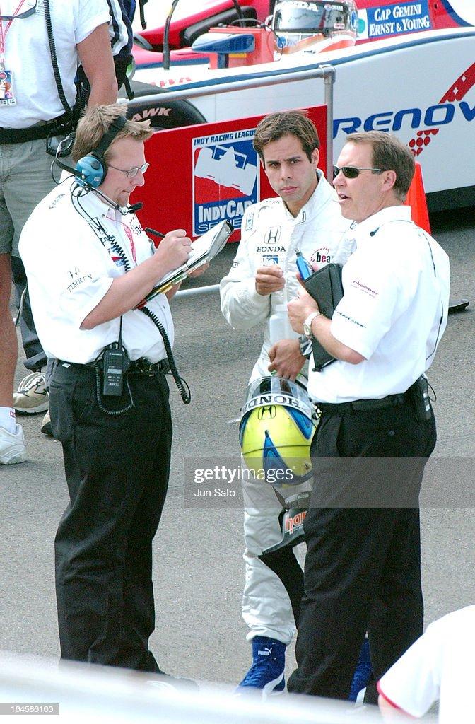 'Vitor Meira during IndyCar - 2004 Bridgestone Indy Japan 300 - Day 2 at Twin Ring Motegi Super Speedway in Motegi, Japan. (Photo by Jun Sato/WireImage)'