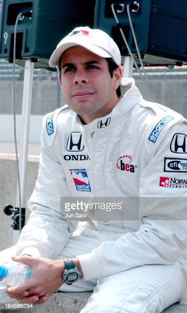 'Vitor Meira during IndyCar 2004 Bridgestone Indy Japan 300 Day 3 Opening Ceremony Pit Lane at Twin Ring Motegi Super Speedway in Motegi Japan '