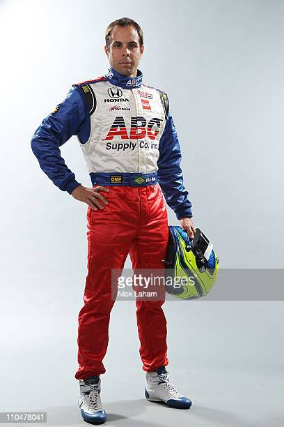 Vitor Meira of Brazil driver of the ABC Supply Co AJ Foyt Racing Dallara Honda poses during the IRL Indy Car Series Media Day at Barber Motorsports...