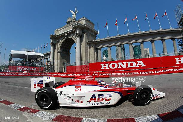 Vitor Meira of Brazil driver of the AJ Foyt Enterprises Dallara Honda during practice for the IZOD IndyCar Series Honda Indy Toronto on July 8 2011...