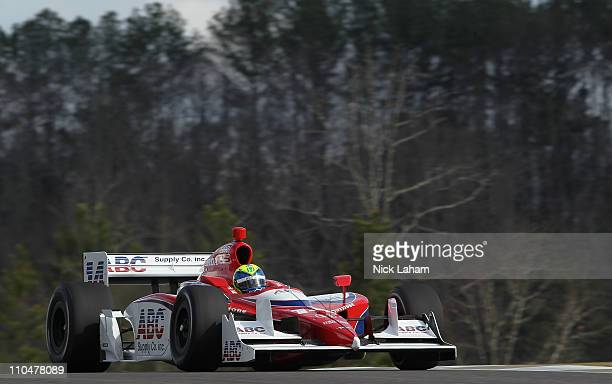 Vitor Meira of Brazil drives the ABC Supply Co AJ Foyt Racing Dallara Honda during IZOD IndyCar Series Spring Training at Barber Motorsports Park on...