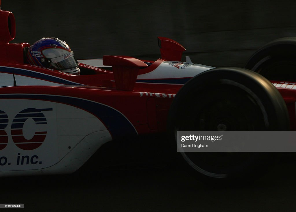 Vitor Meira of Brazil drives the #14 ABC Supply Inc A.J.Foyt Racing Dallara Honda during practice for the IZOD IndyCar Series Indy Japan The Final, on the road course at the Twin Ring Motegi on September 16, 2011 in Motegi, Japan.