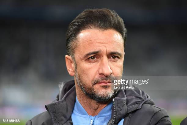 Vitor Pereira head coach of TSV 1860 Muenchen looks on prior to the Second Bundesliga match between TSV 1860 Muenchen and 1 FC Nuernberg at Allianz...