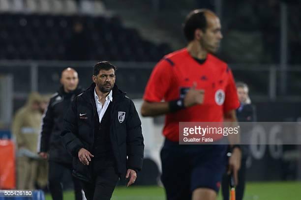 Vitoria de Guimaraes's coach Sergio Conceicao in action during the Primeira Liga match between Vitoria de Guimaraes and FC Porto at Estadio D Afonso...
