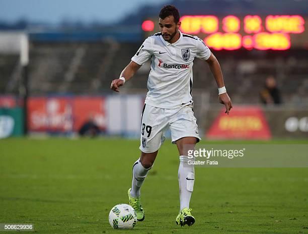 Vitoria de Guimaraess forward Henrique Dourado in action during the Primeira Liga match between Os Belenenses and Vitoria de Guimaraes at Estadio do...