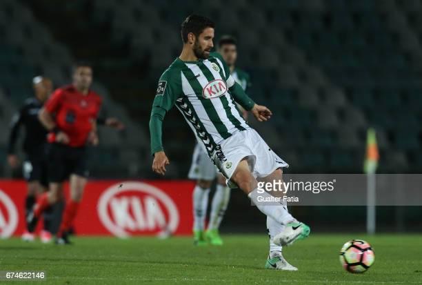 Vitoria de SetubalÕs defender Frederico Venancio in action during the Primeira Liga match between Vitoria Setubal and Vitoria Guimaraes at Estadio do...