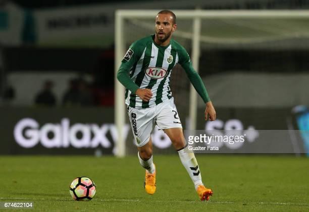 Vitoria de SetubalÕs defender Pedro Pinto in action during the Primeira Liga match between Vitoria Setubal and Vitoria Guimaraes at Estadio do Bonfim...