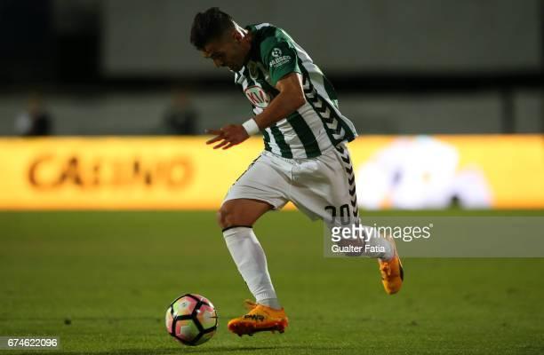 Vitoria de SetubalÕs forward Ze Manuel in action during the Primeira Liga match between Vitoria Setubal and Vitoria Guimaraes at Estadio do Bonfim on...