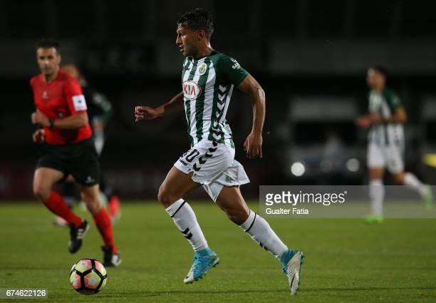 Vitoria de SetubalÕs midfielder Joao Carvalho in action during the Primeira Liga match between Vitoria Setubal and Vitoria Guimaraes at Estadio do...