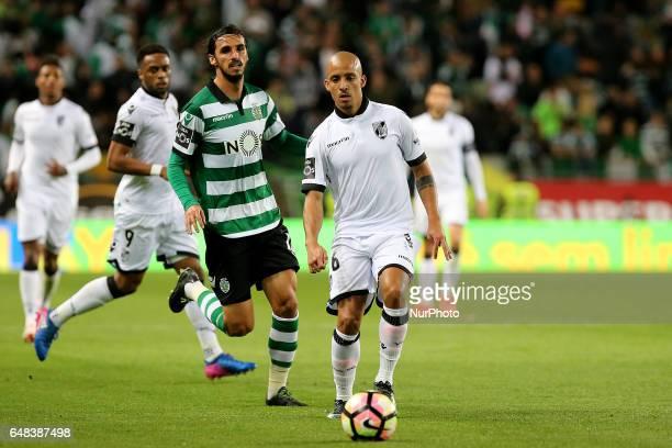 Vitoria Guimaraes defender Bruno Gaspar during Premier League 2016/17 match between Sporting CP and Vitoria SC at Alvalade Stadium in Lisbon on March...