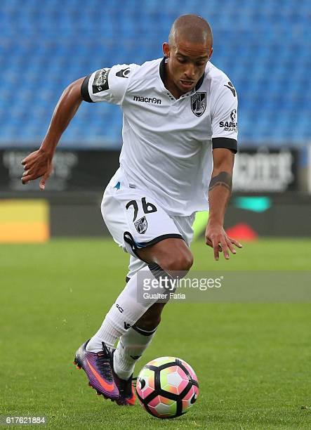 Vitoria Guimaraes' defender Bruno Gaspar in action during the Primeira Liga match between GD Estoril Praia and Vitoria SC Guimaraes at Estadio...