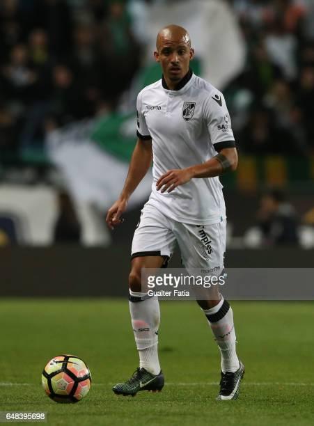 Vitoria Guimaraes' defender Bruno Gaspar in action during the Primeira Liga match between Sporting CP and Vitoria Guimaraes at Estadio Jose Alvalade...