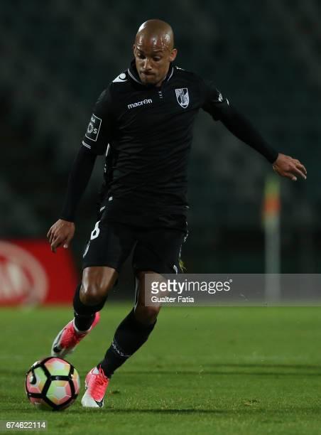 Vitoria GuimaraesÕ defender Bruno Gaspar in action during the Primeira Liga match between Vitoria Setubal and Vitoria Guimaraes at Estadio do Bonfim...