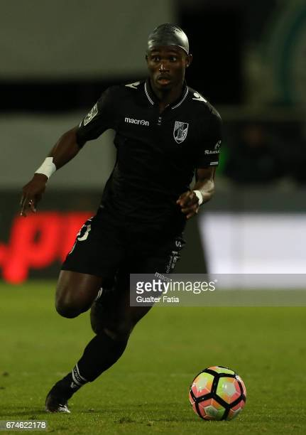 Vitoria GuimaraesÕ defender Ghislain Konan in action during the Primeira Liga match between Vitoria Setubal and Vitoria Guimaraes at Estadio do...