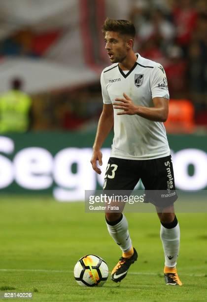 Vitoria Guimaraes defender Joao Vigario from Portugal in action during the SuperTaca match between SL Benfica and Vitoria Guimaraes at Estadio...