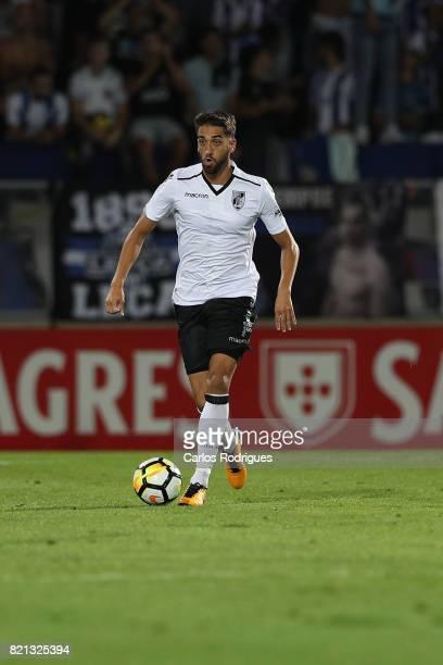 Vitoria Guimaraes defender Josue Sa from Portugal during the match between Vitoria Guimaraes v FC Porto match for the Guimaraes City Trophy at...