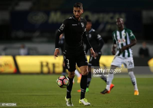 Vitoria GuimaraesÕ defender Josue Sa in action during the Primeira Liga match between Vitoria Setubal and Vitoria Guimaraes at Estadio do Bonfim on...