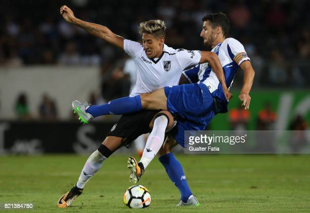Vitoria Guimaraes forward David Texeira from Uruguay with FC Porto defender Ivan Marcano from Spain in action during the PreSeason Friendly match...