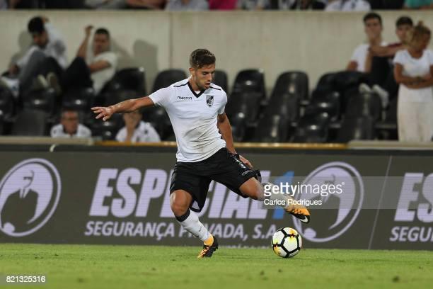 Vitoria Guimaraes forward Joao Vigario from Portugal during the match between Vitoria Guimaraes v FC Porto match for the Guimaraes City Trophy at...