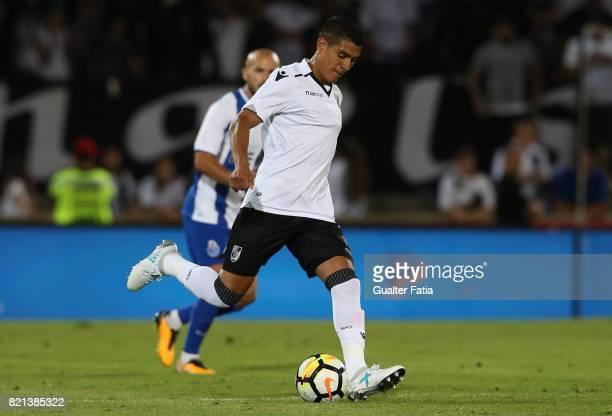 Vitoria Guimaraes forward Paolo Hurtado from Peru in action during the PreSeason Friendly match between Vitoria de Guimaraes and FC Porto at Estadio...