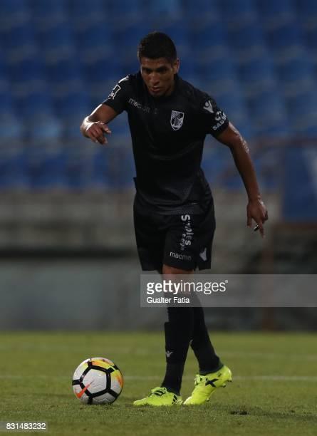 Vitoria Guimaraes forward Paolo Hurtado from Peru in action during the Primeira Liga match between GD Estoril Praia and SL Benfica at Estadio Antonio...