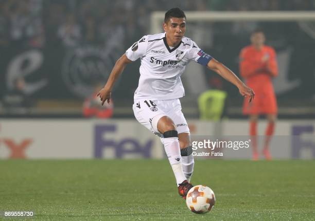 Vitoria Guimaraes forward Paolo Hurtado from Peru in action during the UEFA Europa League match between Vitoria de Guimaraes and Olympique Marseille...