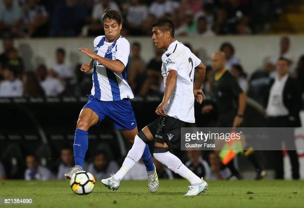 Vitoria Guimaraes forward Paolo Hurtado from Peru with FC Porto midfielder Oliver Torres from Spain in action during the PreSeason Friendly match...