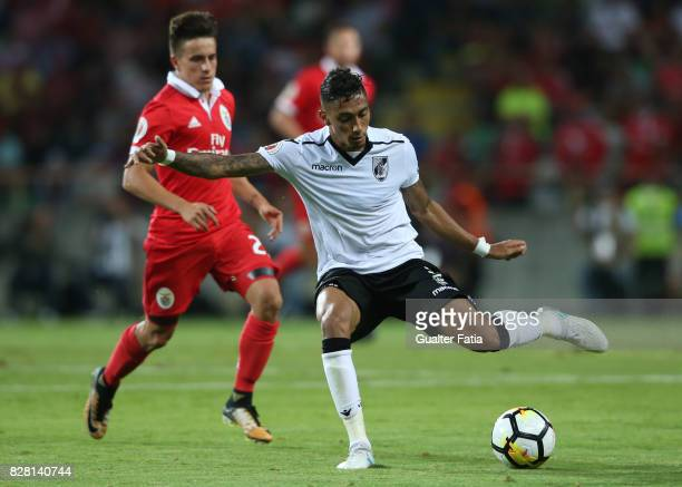 Vitoria Guimaraes forward Raphinha from Brasil in action during the SuperTaca match between SL Benfica and Vitoria Guimaraes at Estadio Municipal de...