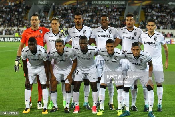 Vitoria Guimaraes initial team during the match between Vitoria Guimaraes and RB Salzburg for UEFA Europa League at Estadio da Dom Afonso Henriques...