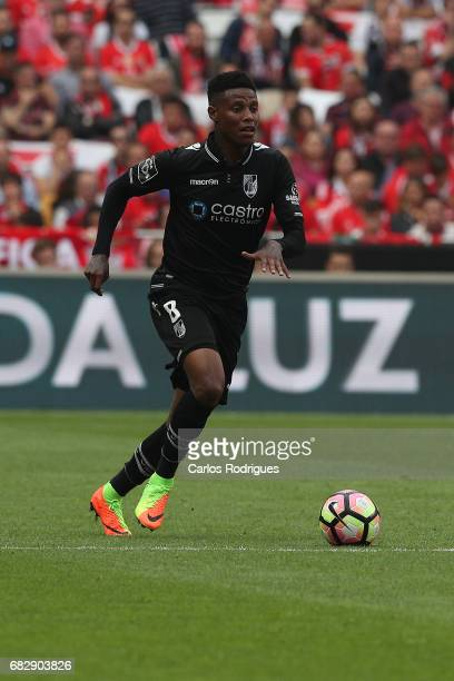 Vitoria Guimaraes midfielder Bongani Zungu from South Africa during the match between SL Benfica and Vitoria SC for the Portuguese Primeira Liga at...