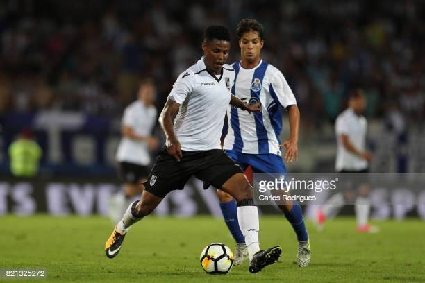 Vitoria Guimaraes midfielder Bongani Zungu from South Africa during the match between Vitoria Guimaraes v FC Porto match for the Guimaraes City...