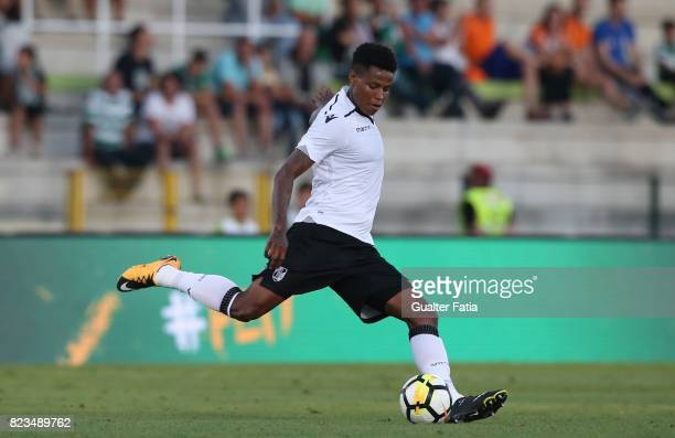 Vitoria Guimaraes midfielder Bongani Zungu from South Africa in action during PreSeason Friendly match between Sporting CP and Vitoria Guimaraes at...