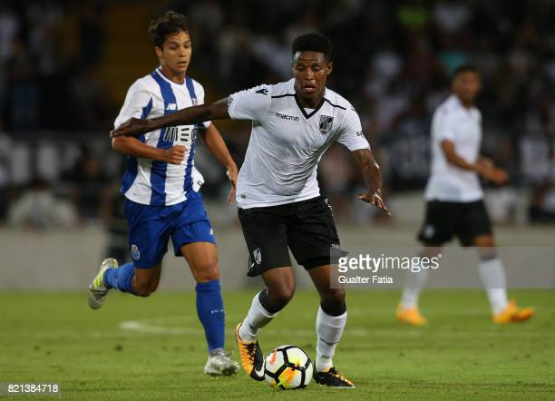 Vitoria Guimaraes midfielder Bongani Zungu from South Africa in action during the PreSeason Friendly match between Vitoria de Guimaraes and FC Porto...