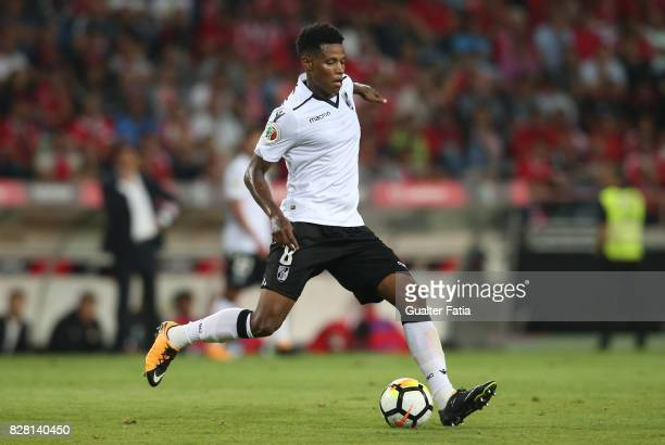 Vitoria Guimaraes midfielder Bongani Zungu from South Africa in action during the SuperTaca match between SL Benfica and Vitoria Guimaraes at Estadio...