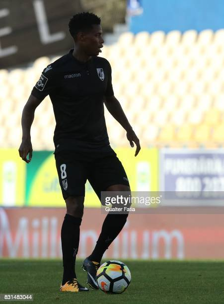 Vitoria Guimaraes midfielder Bongani Zungu from South Africa in action during the Primeira Liga match between GD Estoril Praia and SL Benfica at...