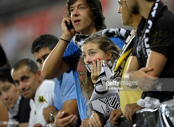 Vitoria SC supporters during the UEFA Europa League group stage match between Vitoria SC and HNK Rijeka held on September 19 2013 at the Estadio D...