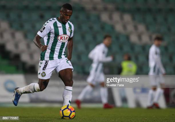 Vitoria Setubal defender Semedo from Portugal in action during the Primeira Liga match between Vitoria Setubal and Vitoria de Guimaraes at Estadio do...