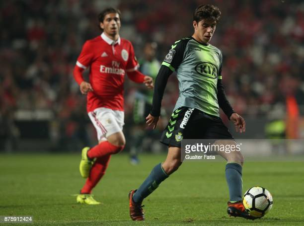 Vitoria Setubal midfielder Andre Sousa from Portugal in action during the Portuguese Cup match between SL Benfica and Vitoria Setubal at Estadio da...