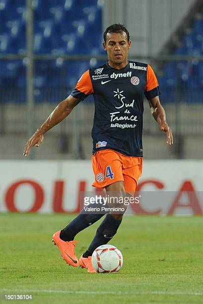 Vitorino Hilton of Montpellier Herault SC in action during the Ligue 1 match between Montpellier Herault SC and Toulouse FC at Stade de la Mosson on...