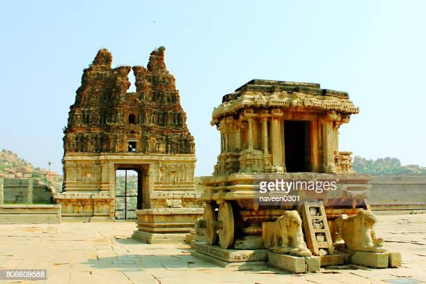Vittala Temple Stone Chariot in Hampi, Karnataka, India