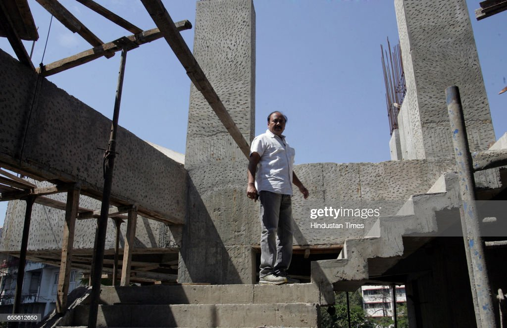 Vitthal Lokhandkar Chairman of The Bombay art society - BAS new building being constructed opposite Rang Sharda at Bandra Mumbai.