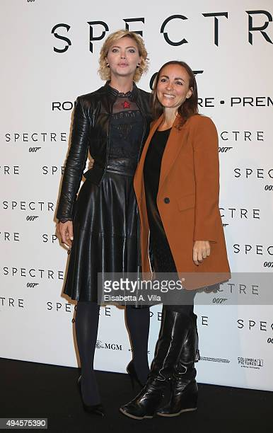 Vittoria Belvedere and Camila Raznovich attend a red carpet for 'Spectre' on October 27 2015 in Rome Italy