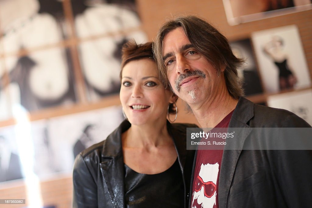 Vittoria Belvedere and Fabio Lovino attends the Fabio Lovino Exhibition Opening during the 8th Rome Film Festival at the Auditorium Parco Della Musica on November 8, 2013 in Rome, Italy.