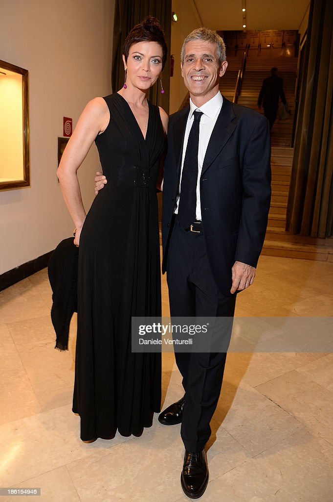 Vittoria Belvedere and Vasco Valerio attend 'Vorrei... 2013' Charity Event To Support Fondazione FFC at Teatro Sistina on October 28, 2013 in Rome, Italy.